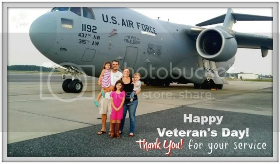 Celebrating our Veterans from a C17 at the Charleston Air Force Base