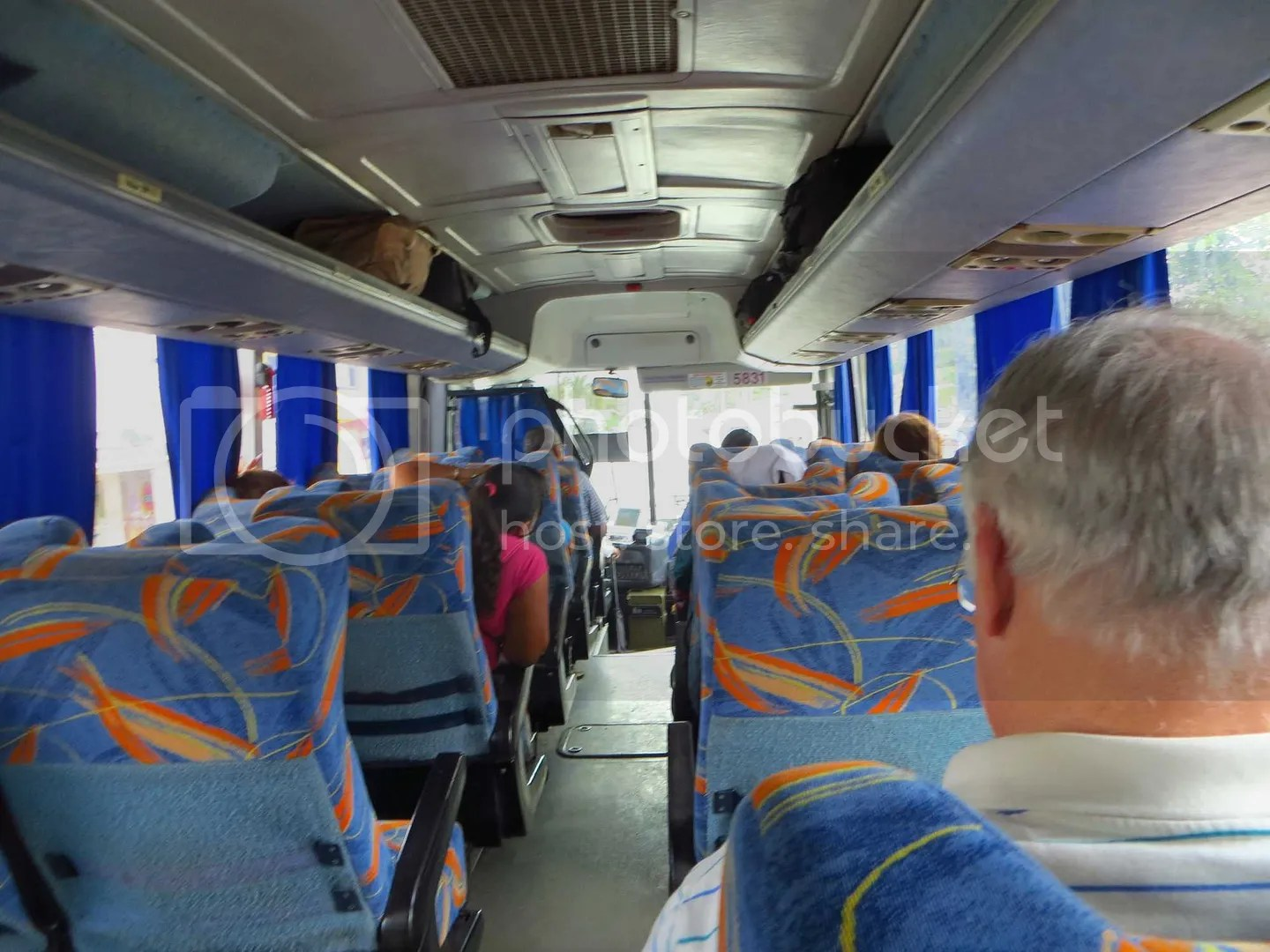 Inside of Seoncd class bus