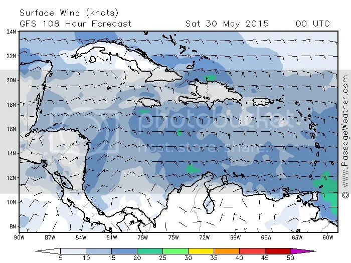 Wind heading to Providencia