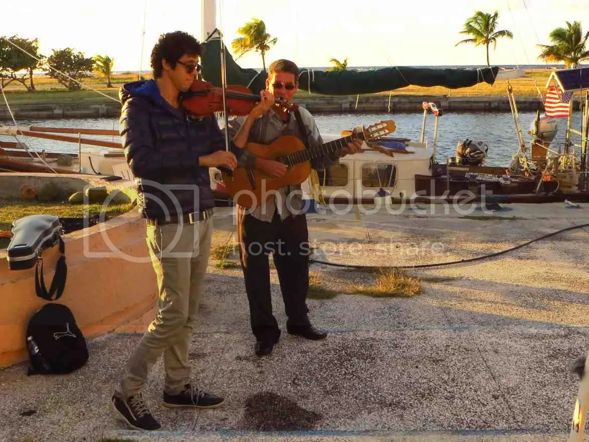 Wicho and Javier playing music