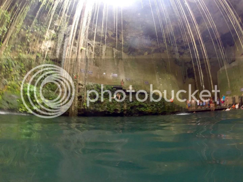 Cenote IKKIL gopro picture