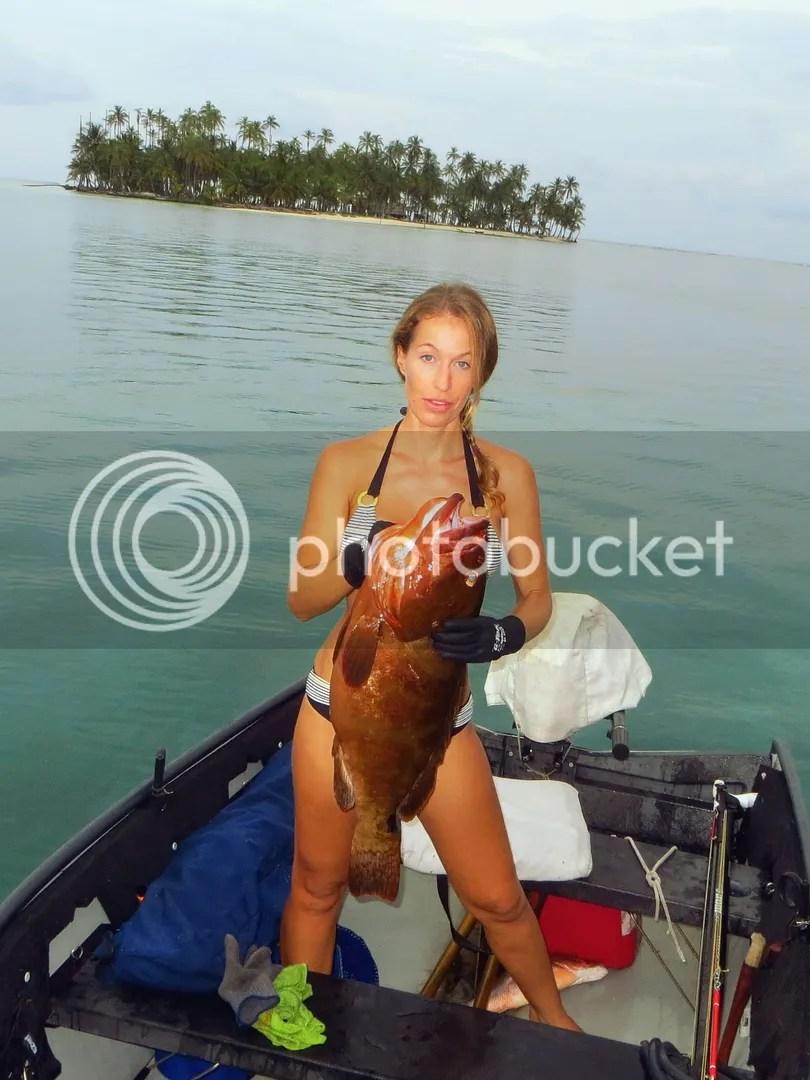 Dani with 25 pound Nassau Grouper