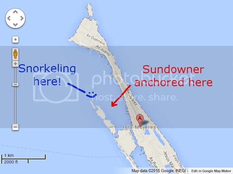 Map of where we went snorkeling