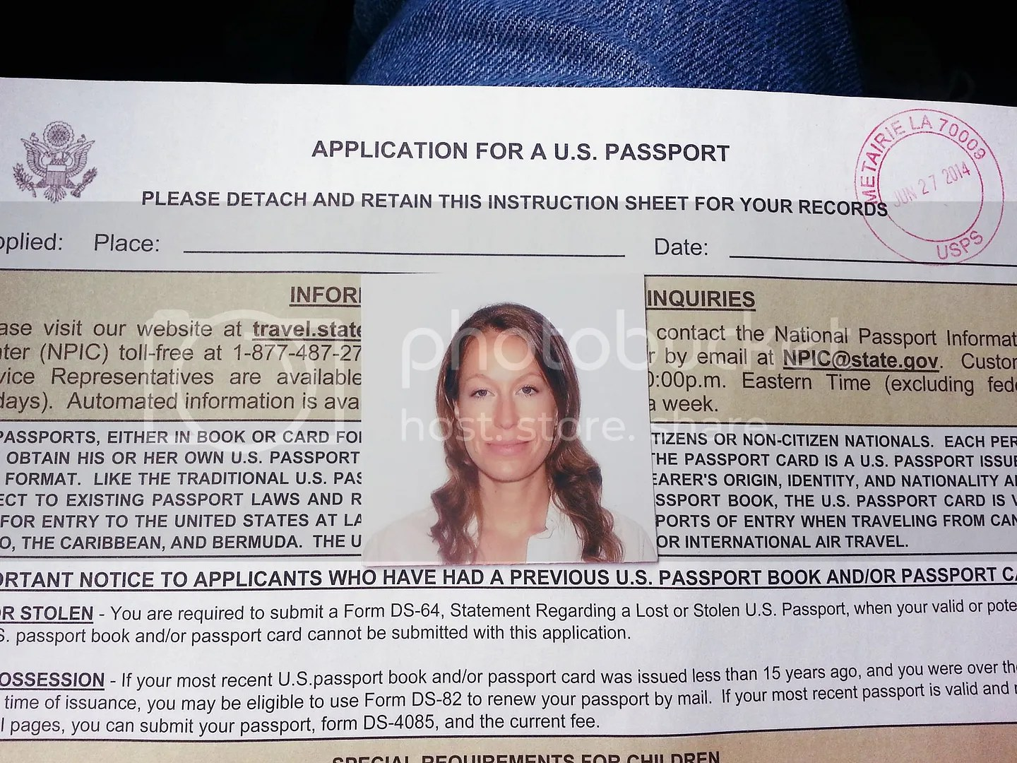 Dani's Passport photo and application