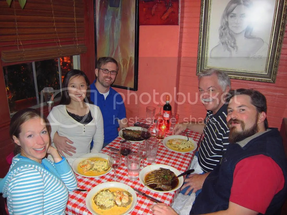 Group pic of Tate and friends at Adolfo's on Frenchman Street NOLA