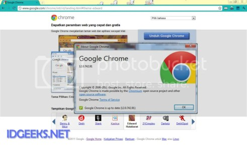 Chrome 12 Stable Version