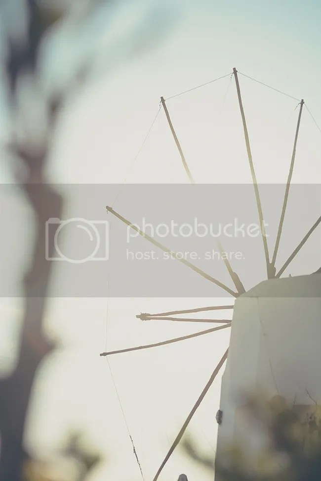 Oia Windmill at Sunset