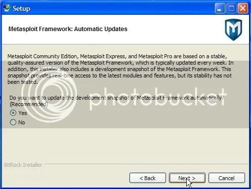Metasploit Windows kurulumu - Baskı Önizleme.