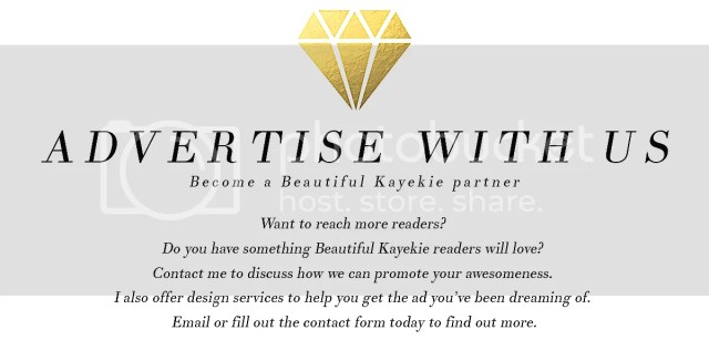 Become a Beautiful Kayekie partner  Want to reach more readers?  Do you have something Beautiful Kayekie readers will love?  Contact me to discuss how we can promote your awesomeness.  I also offer design services to help you get the ad you've been dreaming of.  Email or fill out the contact form today to find out more.