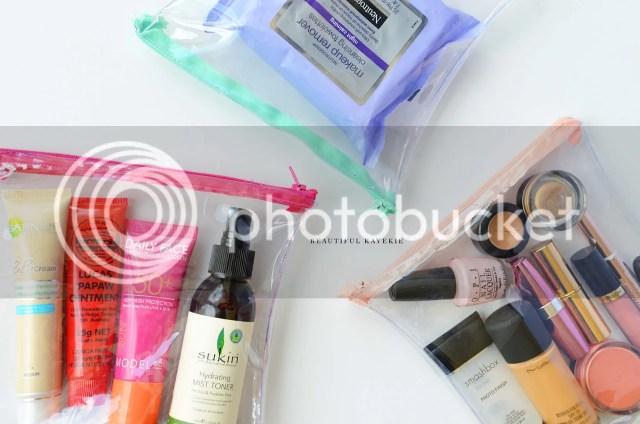 DIY Clear Travel TSA Makeup Accessory Bag
