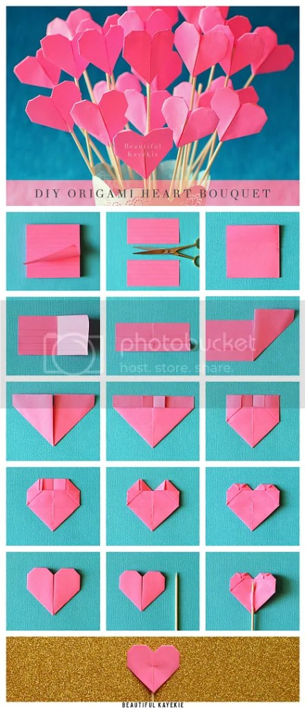 DIY Origami Hearts Pinterest