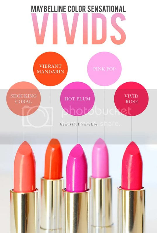 Maybelline color sensational vivids review swatches
