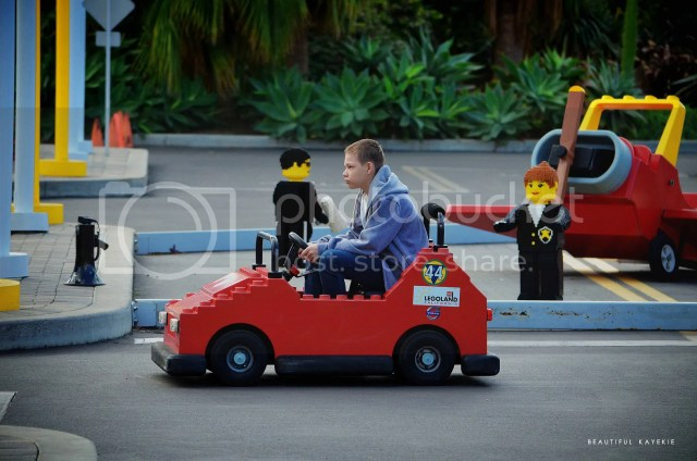 Driving Lego cars at Legoland California