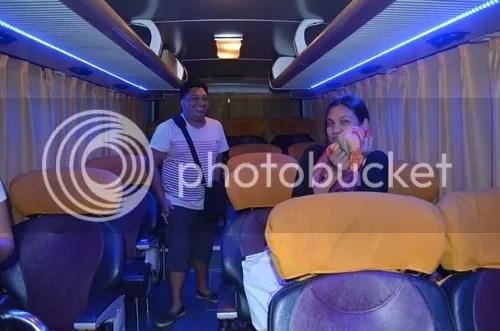 Joy Bus Cubao to Baler 2 x 1 seater bus