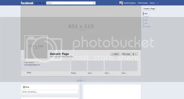 Blank facebook profile page template blank facebook timeline cover template so that you can attach out your friedricerecipe Image collections