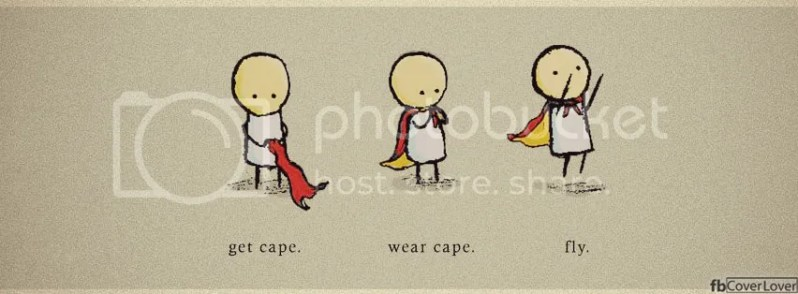 Wear Cape and Fly Funny Cover