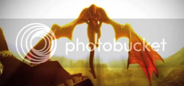 dragon rising sun