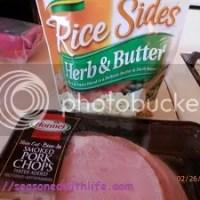 Smoked Pork Chops & Rice