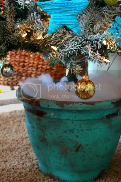 tree in a planter pot