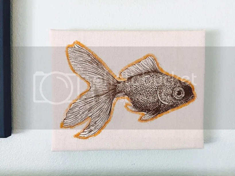 fabric fish art