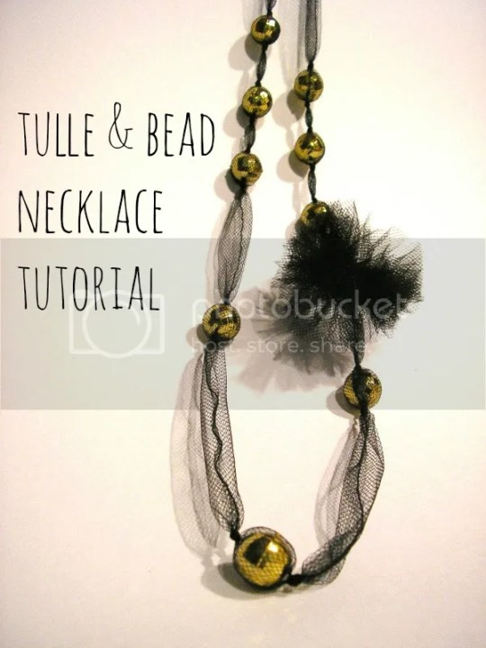simple necklace tutorial