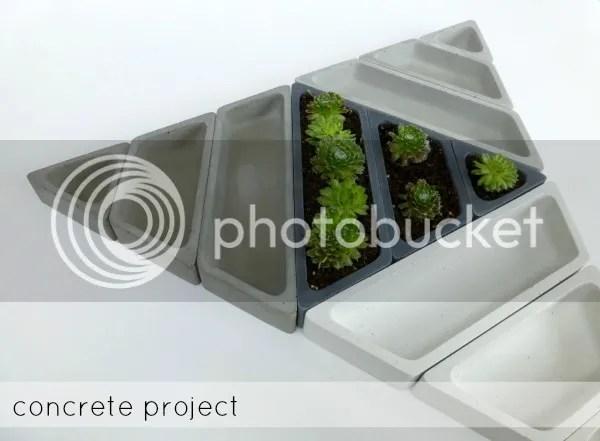 concrete planters_concrete project