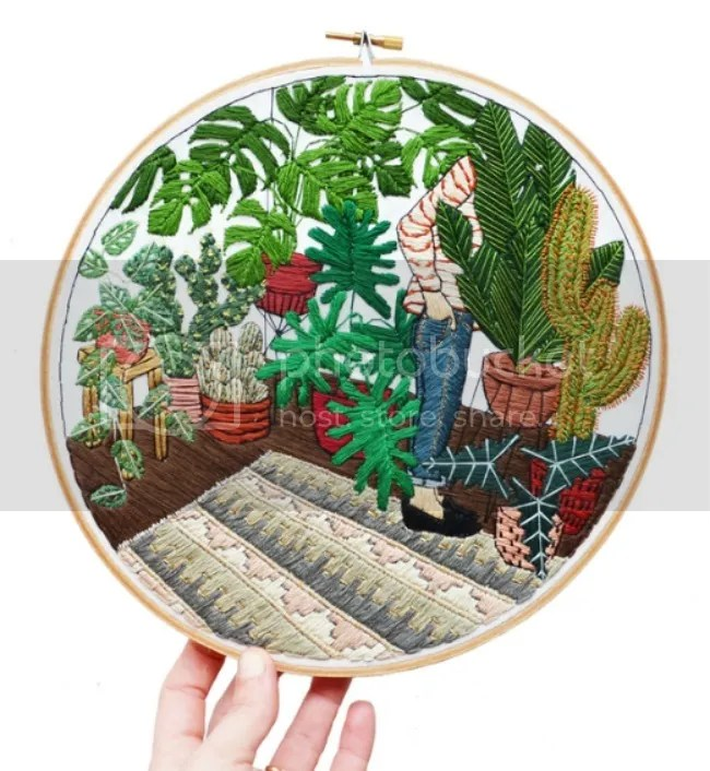 sarah_k_benning_contemporary_embroidery_girl_in_dream_potted_garden