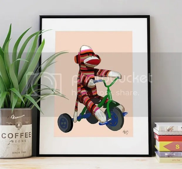 photo sock_monkey_print_loopy_lolly_shop