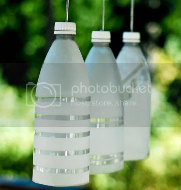 upcycled diy projects  | plastic bottle pary lights