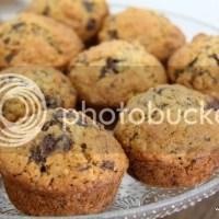 Havermout Muffins met Banaan, Chocolade en Walnoten