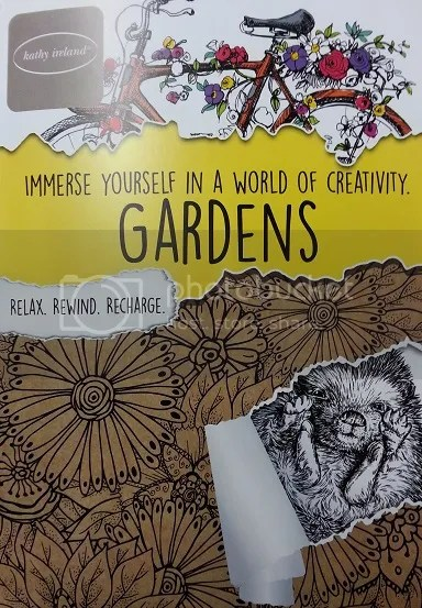 Gardens coloring book for adults image