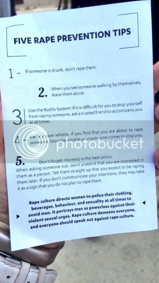 Do not be a rapist. Handy tips! More on the blog of @JLenniDorner