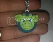 Ooak dragon necklace by ARAartisticcreations
