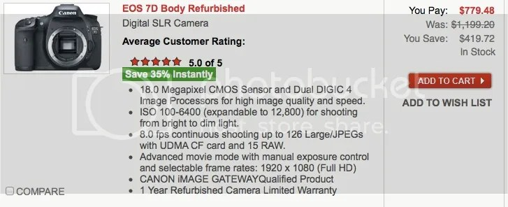 Refurbished Canon DSLRs