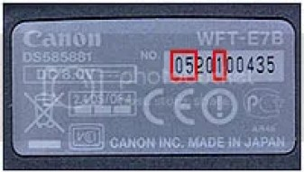 Canon Product Advisory: WFT-E7B Wireless File Transmitter rubber part is discolouring