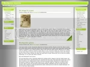 Cordobo green park 3 column wordpress theme