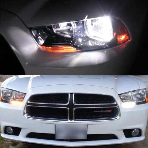 4x 2011 2014 Charger White LED Low Beam Headlight   Switchback     4 Pieces 2011 2014 Charger White LED Low Beam Headlight   Switchback Signal  Light Bulbs
