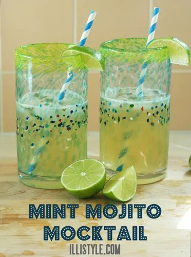 Mint Mojito Mocktail {illistyle}