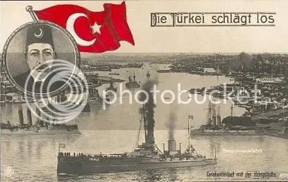 Armada kapal perang Khilafah Islam saat Perang Dunia I