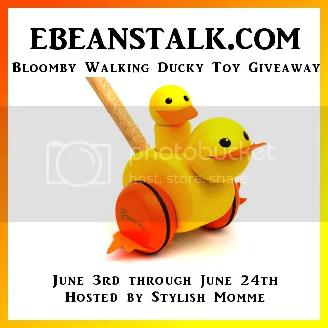 EBeanstalk.com Bloomby Walking Ducky Toy #Giveaway 6/3 - 6/24