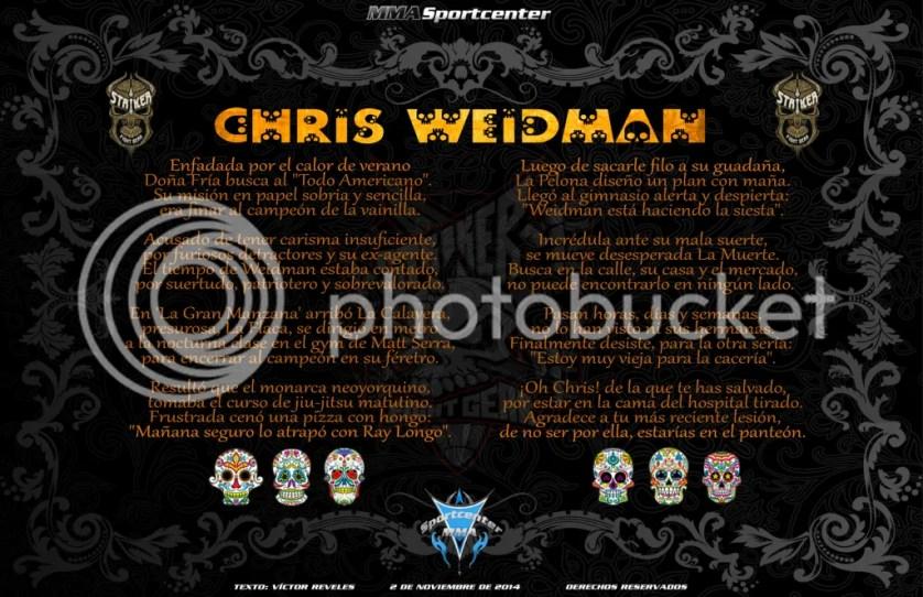 Calavera a Chris Weidman MMASPORTCENTER 2014
