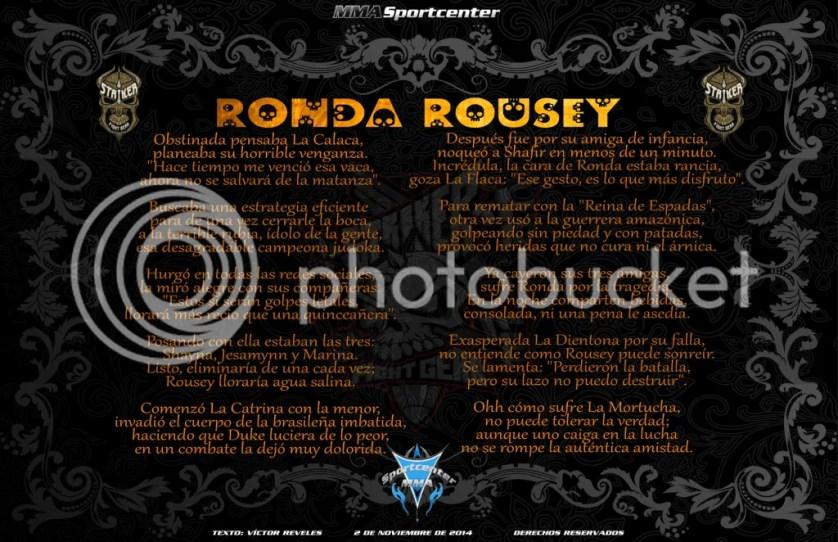 Calavera a Ronda Rousey MMASPORTCENTER 2014