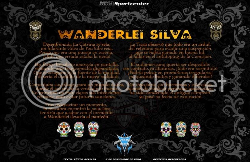 Calavera a Wanderlei Silva MMASPORTCENTER 2014