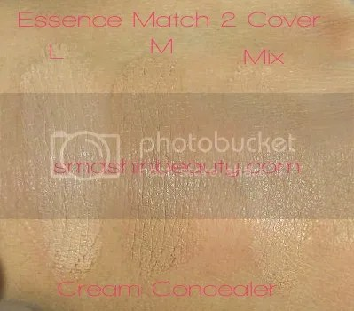 photo MakeupReview-EssenceMatch2CoverCreamConcealerSwatches2_zpsb14e6861.jpg