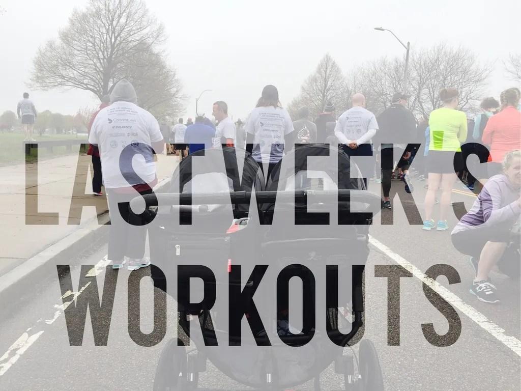 raining and training last weeks workouts