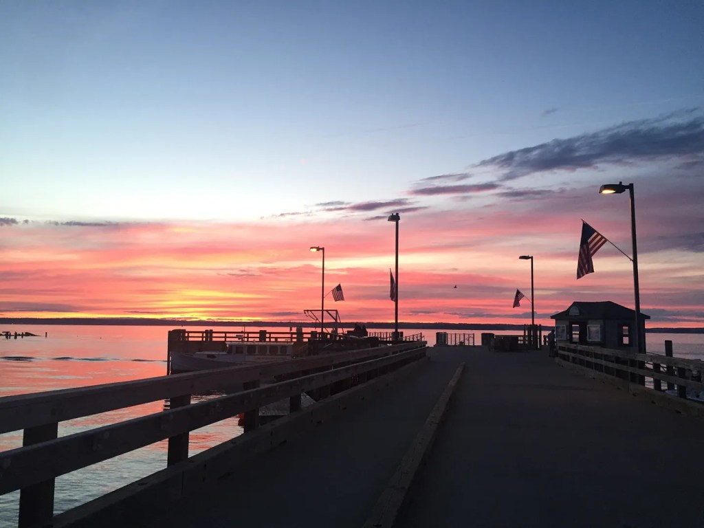 long island maine sunset