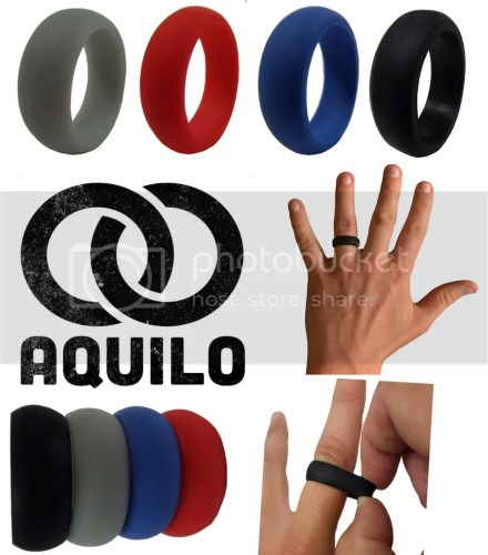 silicone wedding ring Aquilo Best Silicone Durable Soft Wedding Ring Ba