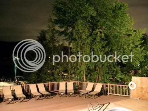 Lake George motel, night