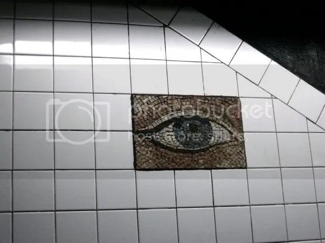 eye mosaic, new york subway