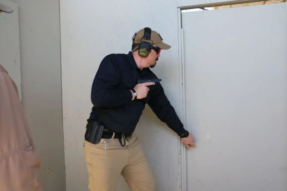 Knock, Knock. The author in Gunsite's
